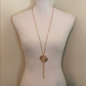 {October Love}Gold Plated Pendant Necklace